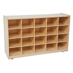 Wood Designs Children WD14589 Tip-Me-Not 20 Tray Storage without Trays,  30