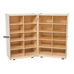 Wood Designs Children Folding Vertical Storage without Trays, 38
