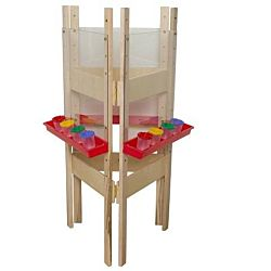 Wood Designs Children's 3-Sided Adjustable Easel with Acrylic WD-18623