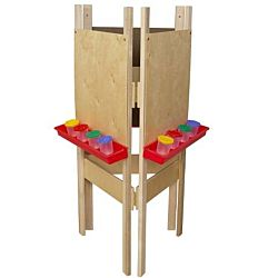 Wood Designs Children's 3-Sided Adjustable Easel with Plywood WD-18700