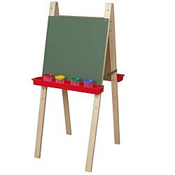 Wood Designs Children's Double Adjustable Easel with Chalkboard WD-18900