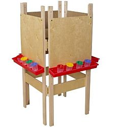 Wood Designs Children's 4 Sided Adjustable Easel with Plywood WD-19100