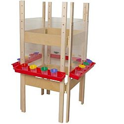 Wood Designs Children's 4 Sided Adjustable Easel with Acrylic WD-19123
