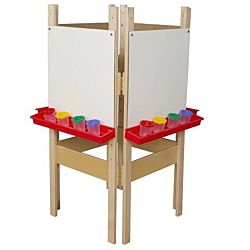 Wood Designs Children's 4 Sided Adjustable Easel with Markerboard WD-19125