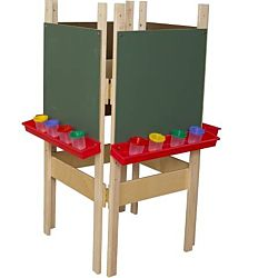 Wood Designs Children's 4 Sided Adjustable Easel with Chalkboard WD-19175