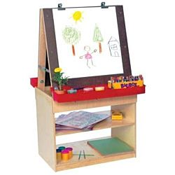 Wood Designs Classroom Art Center For Two, WD19350