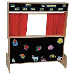 Wood Designs Children Play, Deluxe Puppet Theater with Flannelboard WD-21652