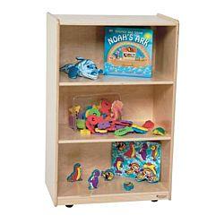 Wood Designs Children Storage Shelf, Natural wood , 38