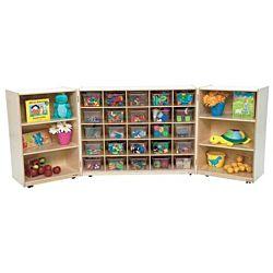 Wood Designs Tray Tri-Fold Storage with (25) Translucent Trays WD-25501