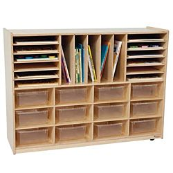 Wood Designs Kids, Multi-Storage with (12) Translucent 5