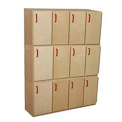 Wood Designs Classroom Stacking Locker - Three Units WD-16330