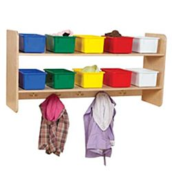 Wood Designs, Classroom Wall Hanging Storage with (10) Assorted Trays WD-51403
