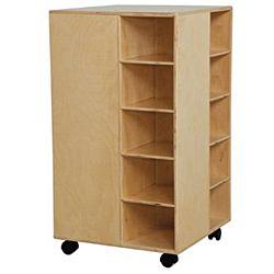 Wood Designs Children Cubby Spinner without Trays, Natural wood ,  37