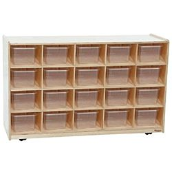 WoodDesigns, Kids, Tray / Shelves Island with (20) Translucent Trays