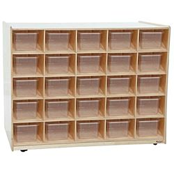 WoodDesigns, Kids, Tray / Shelves Island with (25) Translucent Trays