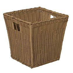 Wood Designs Kids, Medium Size Plastic Wicker Basket Set of 4 WD-71904