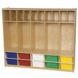 Wood Designs Kids, Locker and Communication Center with 10 Assorted Trays WD-990096AT