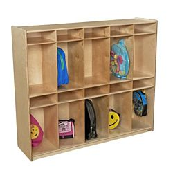 Wood Designs, Kids,10 Section Locker Without Trays