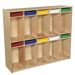 Wood Designs, Kids,10 Section Locker with Assorted Trays
