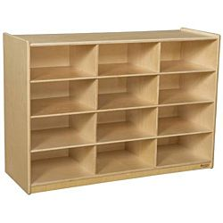 WoodDesigns, Children Cubby Shelves, Natural wood Color, 29-1/16