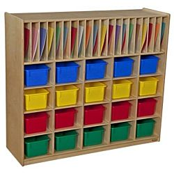 WoodDesigns, Kids, Multi-Storage with 20 Assorted Trays