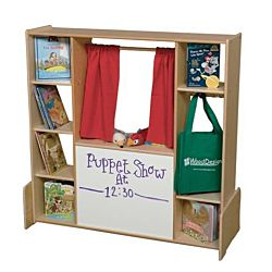 Wood Designs, Children Play, puppet theater with the storage