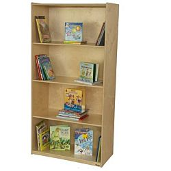 WoodDesigns, Children Multi-Purpose Bookcase, Natural wood , 72