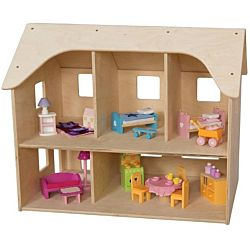 Wood Designs, Children Play, One Sided Doll House