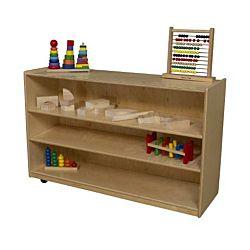 WoodDesigns, Children Mobile Shelf Storage, Natural wood Color, 30