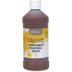 Handy Art 16 oz. Little Masters Washable Tempera Paint - Brown