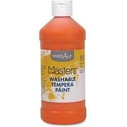 Handy Art 16 oz. Little Masters Washable Tempera Paint - Orange