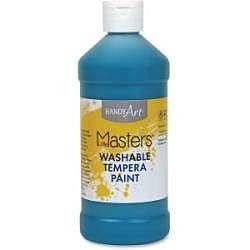 Handy Art 16 oz. Little Masters Washable Tempera Paint - Turquioise