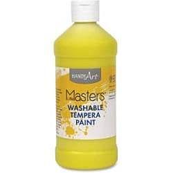 Handy Art 16 oz. Little Masters Washable Tempera Paint - Yellow