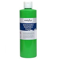 Handy Art 211-158 Hot Green 16-Ounce Fluorescent Washable Tempera Paint