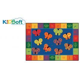 Kids Soft 123 Abc Butterfly Fun Rug Carpet 6 X 9 Rectangle
