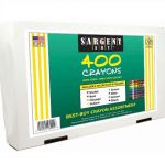 Sargent Art 22-3220 400-Count Best Buy Assortment Regular Crayon, 8 Colors