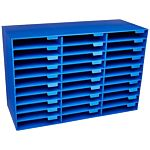 Pacon Classroom Keepers 30-Slot Mailbox, Blue, 001318