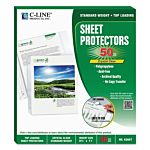 Top Load Crystal Clear Poly Sheet Protectors 50 Standard Weight