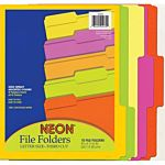 Pacon NEON File Folders Letter Size, Blue ,10 per pack