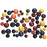Wood Beads Round Assorted Colors