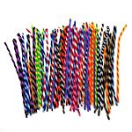 Chenille Stems 100 Pcs Striped Pipe Cleaners for Arts and Crafts,10 Colors