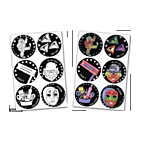 Jewish Color & Rub Stickers Purim