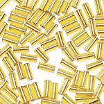 Glass Bugle Beads  Gold - 5mm