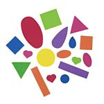 Self-Adhesive Foam Stickers - Basic Shapes - 5 oz. container