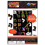 Alef Bet Scratch Stickers 12/pack