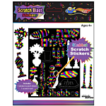 Shabbos Scratch Stickers 12/pack