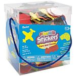 Bucket of Foamies Stickers, Cars and Trucks, 5-Ounce