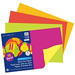 Pacon Neon Fluorescent heavyweight Construction Paper, Assorted Colors, 12-Inches by 18-Inches, 20-Count, 104303