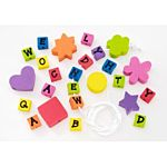 Foamies Tub Alphabet Beads with Cord 366 pieces 1044-92