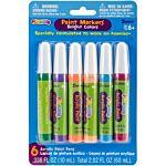Darice 6-Piece Foamie Bright Paint Colors Marker Set